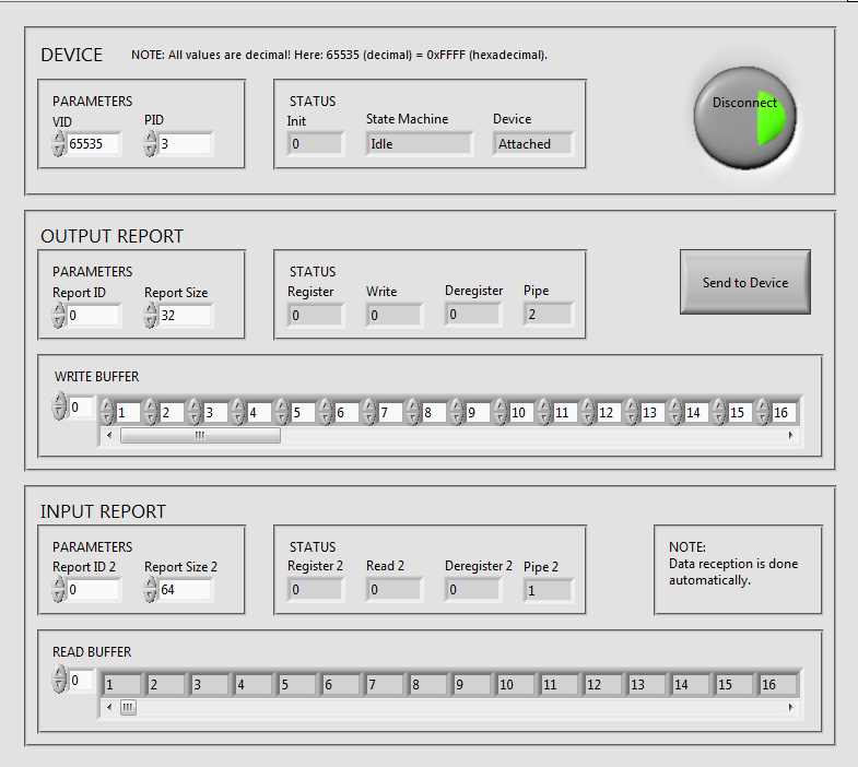 USB HID and LabVIEW
